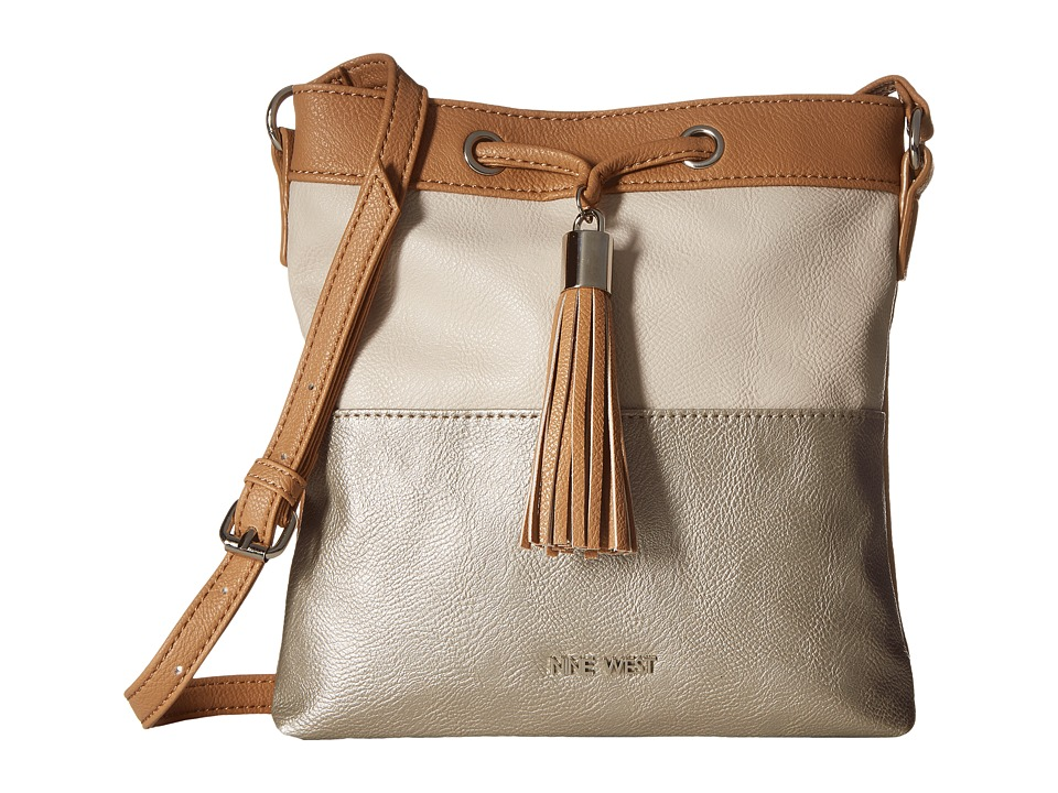 Nine West - Novel Ties (Dark Camel/Natural/Shimmer Silver) Handbags