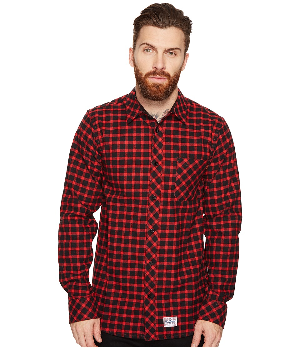 Benny Gold - Lodge Flannel Shirt (Red) Men's Clothing