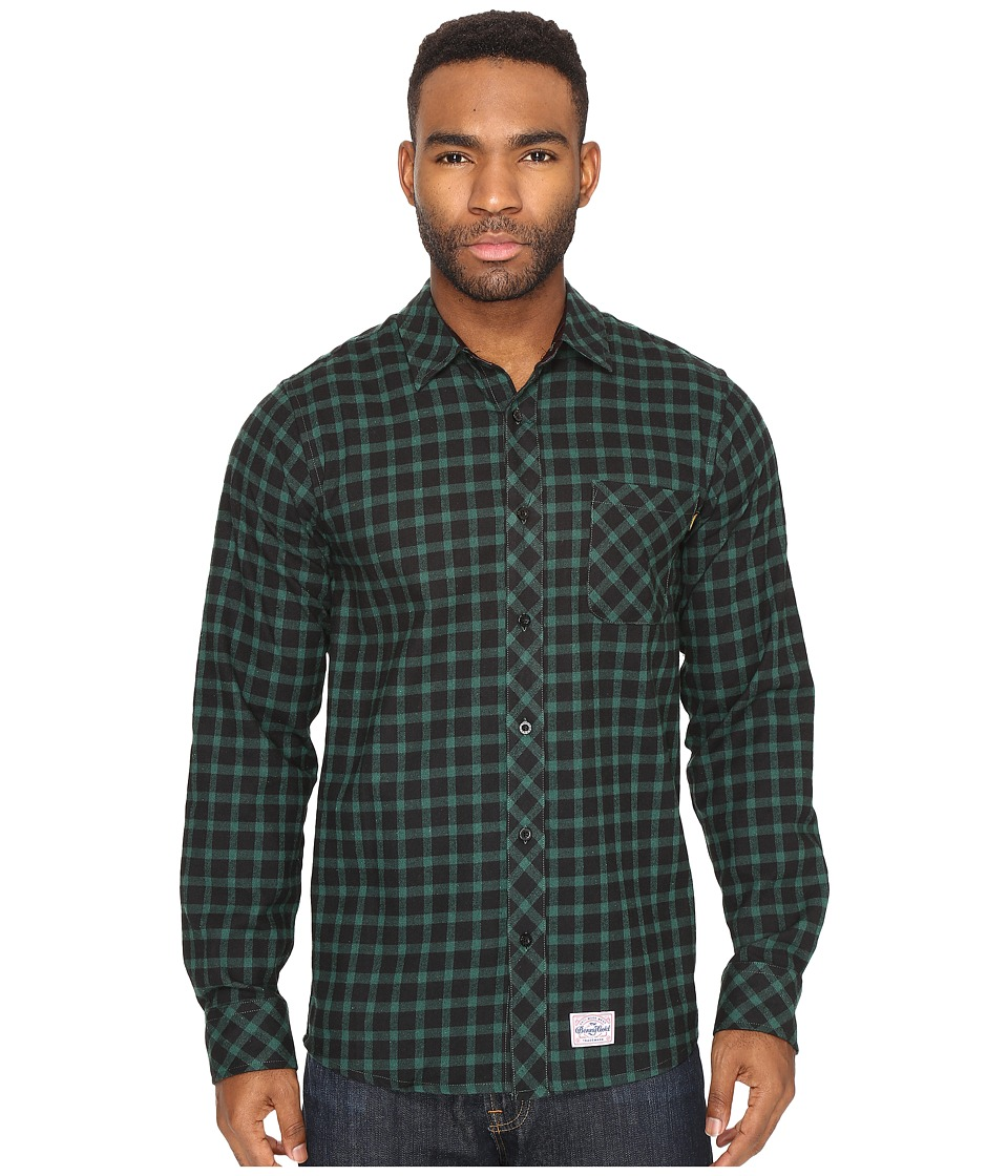 Benny Gold - Lodge Flannel Shirt (Forest) Men's Clothing