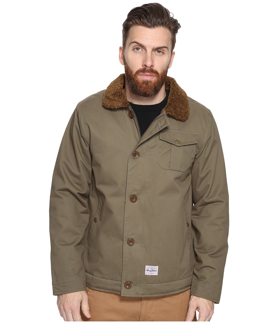 Benny Gold - Pilot Deck Coat (Army Green) Men's Coat