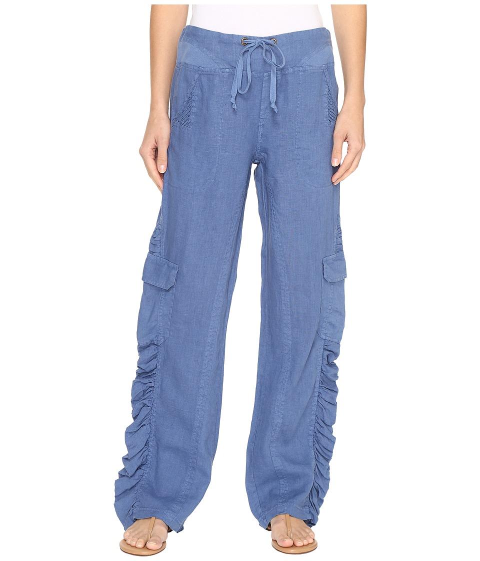 XCVI - Monte Carlo Linen Pants (Jet Stream) Women's Casual Pants