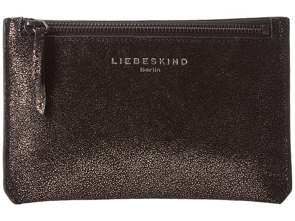 Liebeskind - Kiwi R (Black Glitter) Cosmetic Case