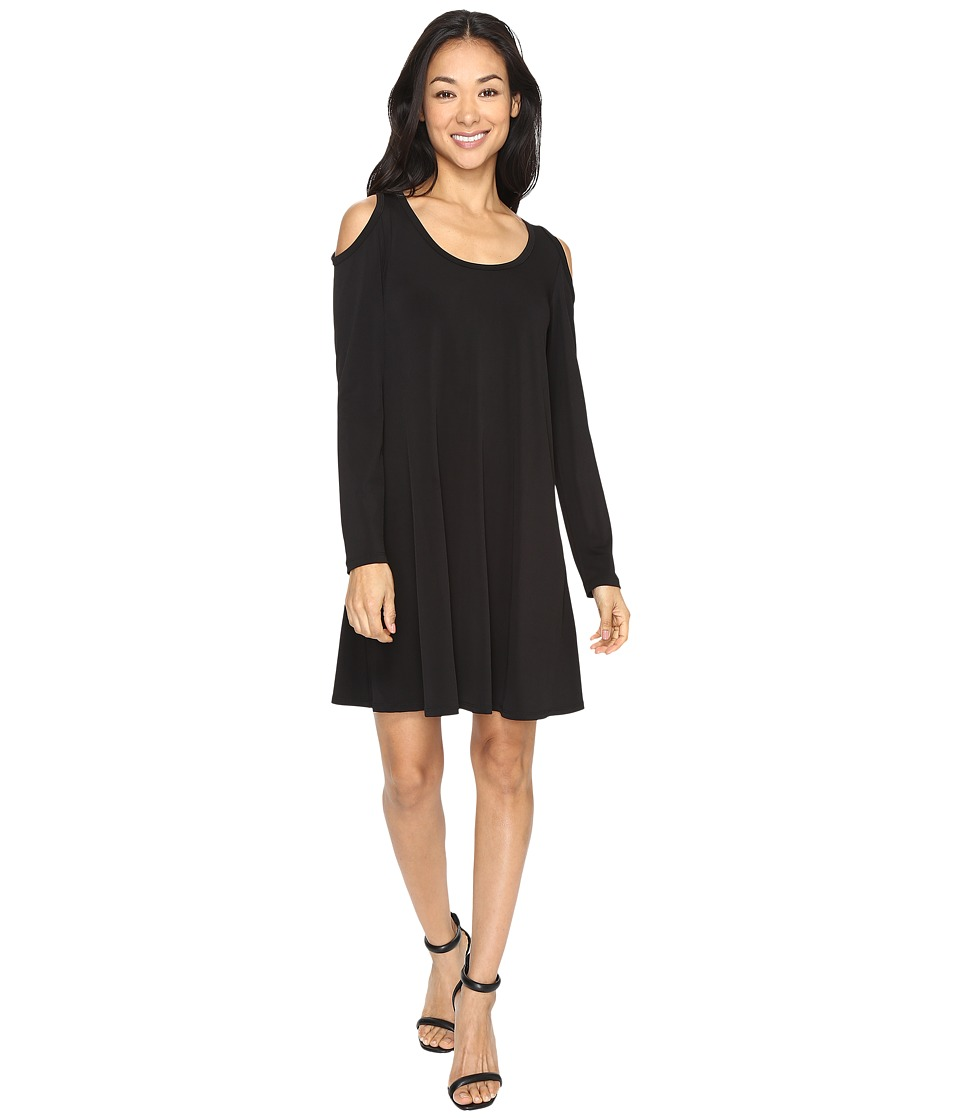 Karen Kane Cold Shoulder Trapeze Dress (Black) Women