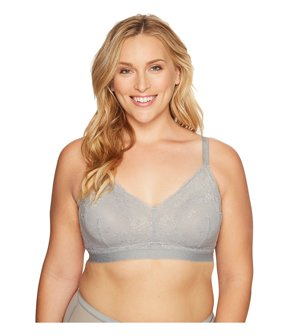 Spanx - Plus Size Spotlight On Lace Bralette (Classic Grey) Women's Bra
