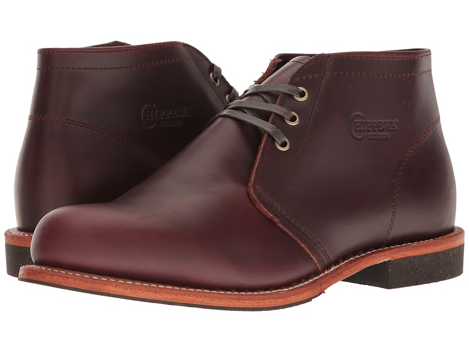 Chippewa - 5 Cordovan Dress Chukka (Brown) Men's Work Boots