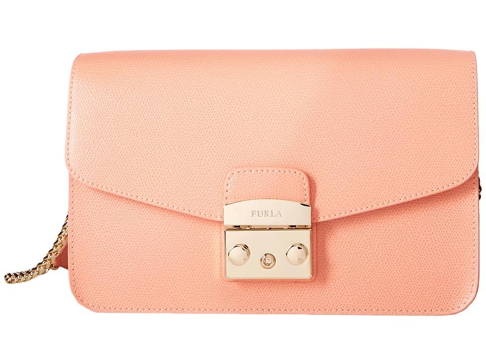 Furla - Metropolis Small Shoulder Bag (Pesca) Shoulder Handbags