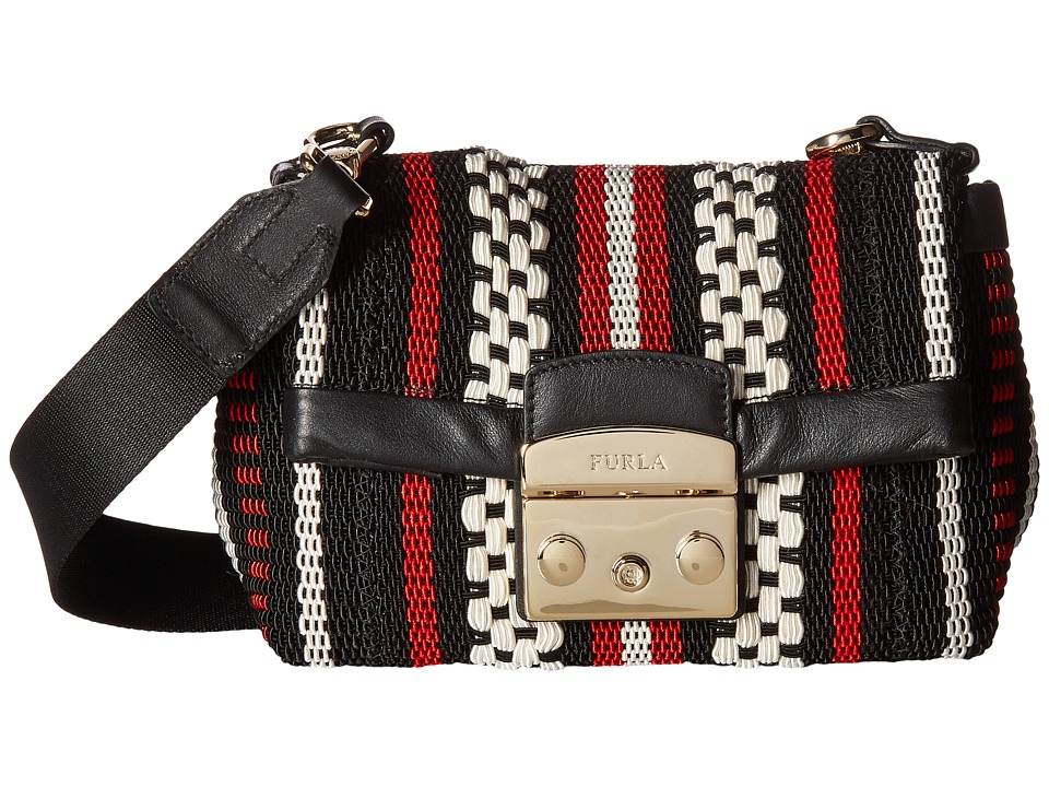 Furla - Metropolis Mini Crossbody (Onyx/Ruby/Petalo) Cross Body Handbags