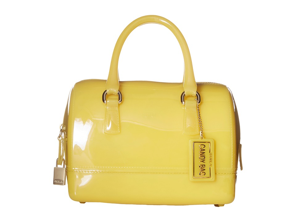 Furla - Candy Mini Satchel (Senape) Satchel Handbags