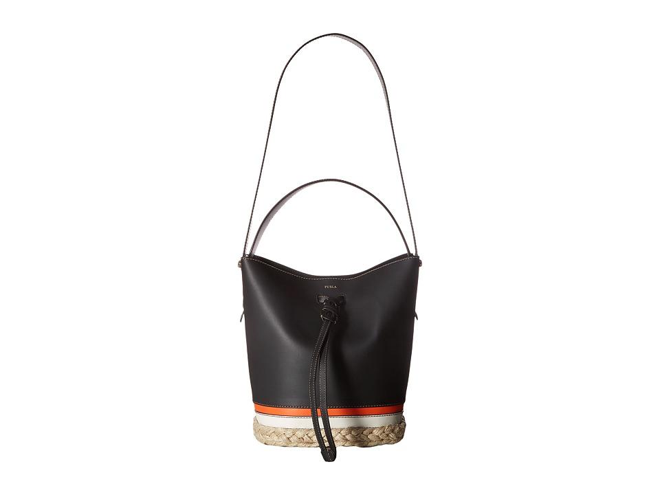 Furla - Vittoria Small Drawstring (Onyx/Toni Naturali) Drawstring Handbags