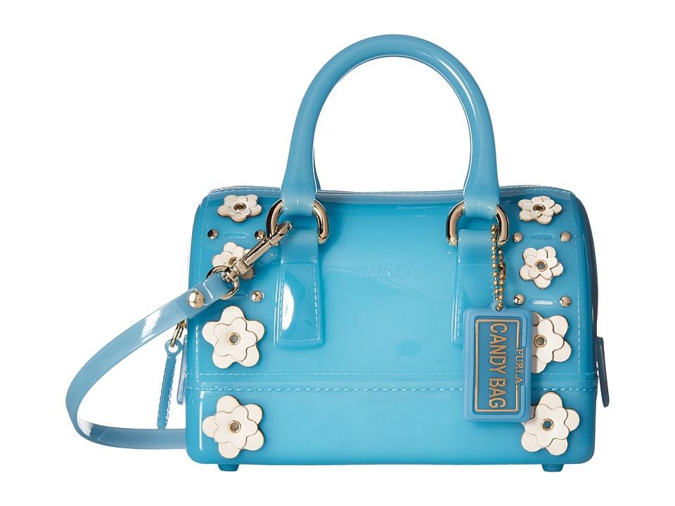 Furla - Candy Lilla Sweetie Mini Satchel (Turchese/Petalo) Satchel Handbags