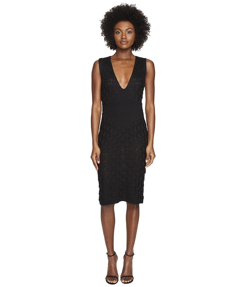 Zac Posen - Dandelion Lace Knit Sleeveless Dress (Black) Women's Dress