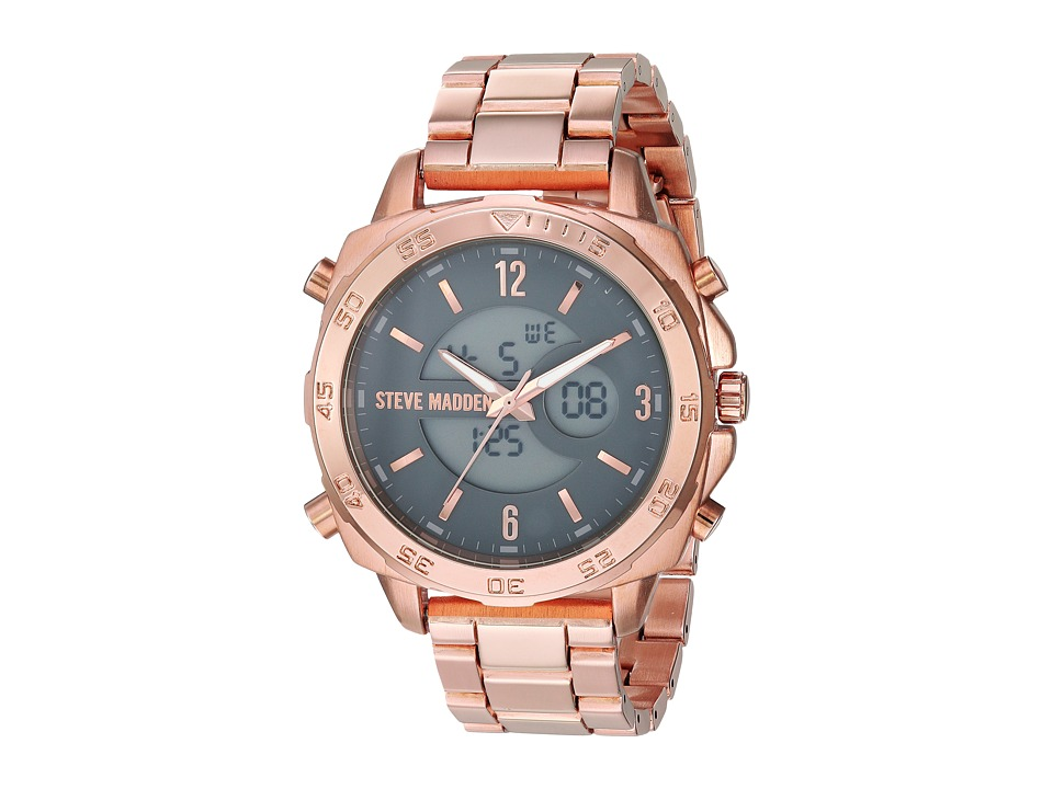 Steve Madden - Oversized Ana-Digi Watch (Rose Gold) Watches