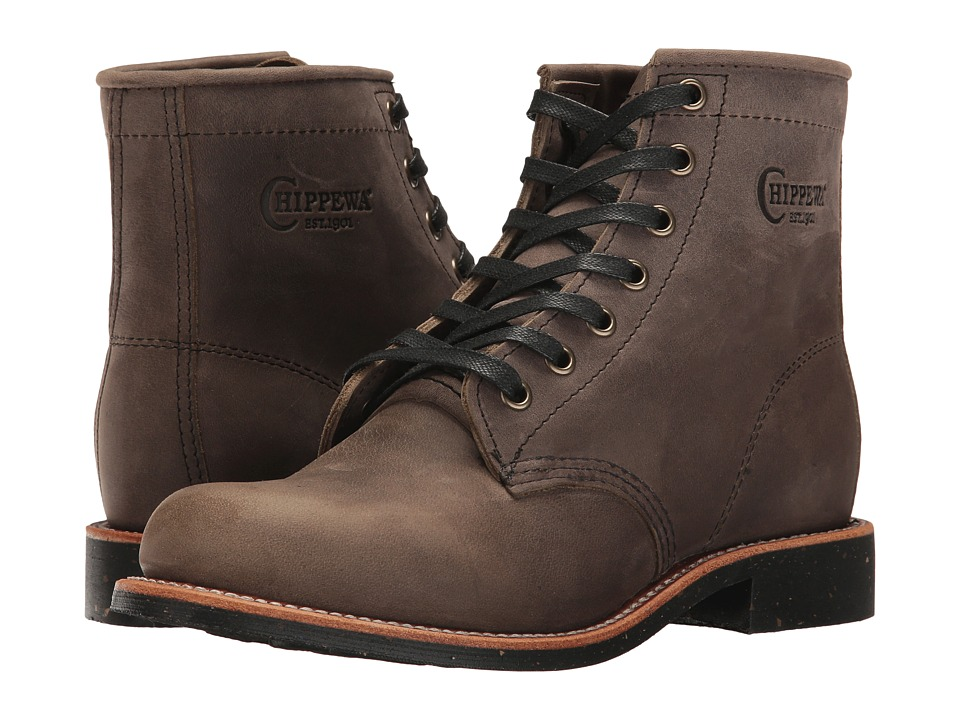 Chippewa - 6 Crazy Horse Service Boot (Grey) Women's Work Boots