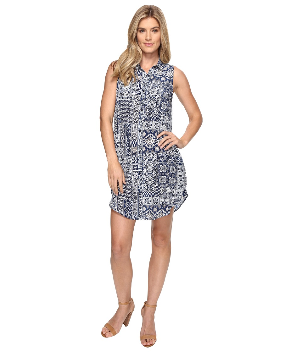 Tolani - Holly Sleeveless Tunic Dress (Navy Patchwork) Women's Dress