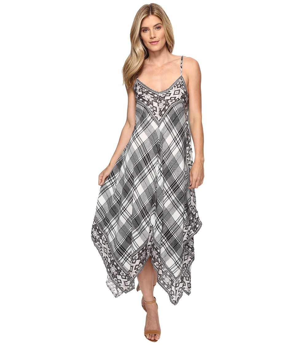 Tolani - Danity Plaid Handkerchief Maxi (Black/White) Women's Dress