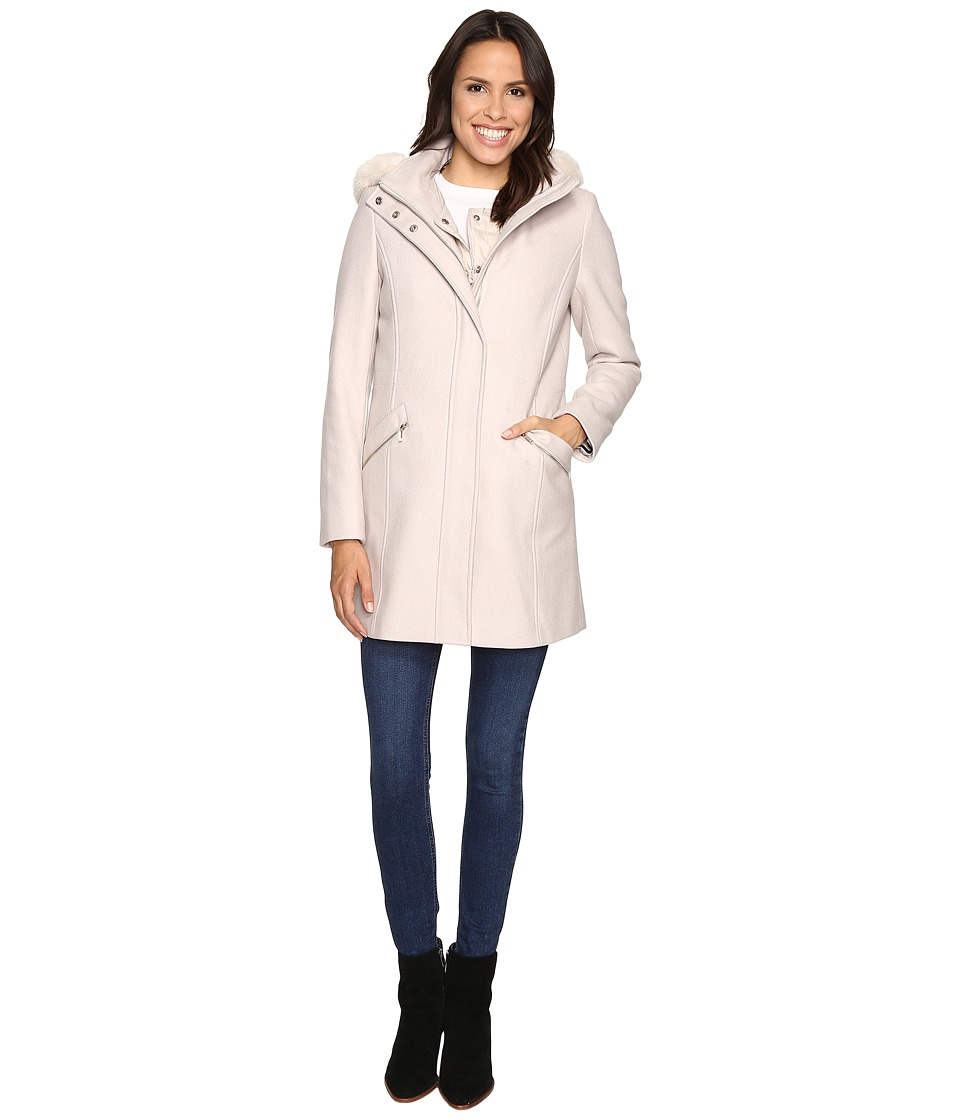 Ivanka Trump - Wool Anorak Coat with Attached Poly Vest (Frost) Women's Coat