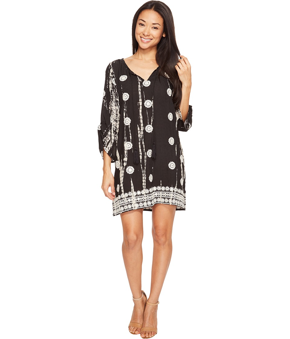Tolani Gwyneth Embroidered Tunic Dress (Black) Women