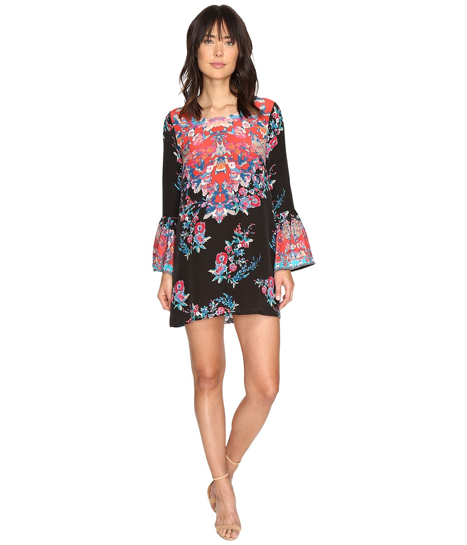 Tolani - Belle Mini Dress (Black Floral) Women's Dress