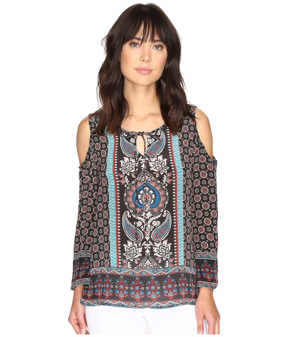 Tolani - Claire Cold Shoulder Blouse (Raven) Women's Blouse