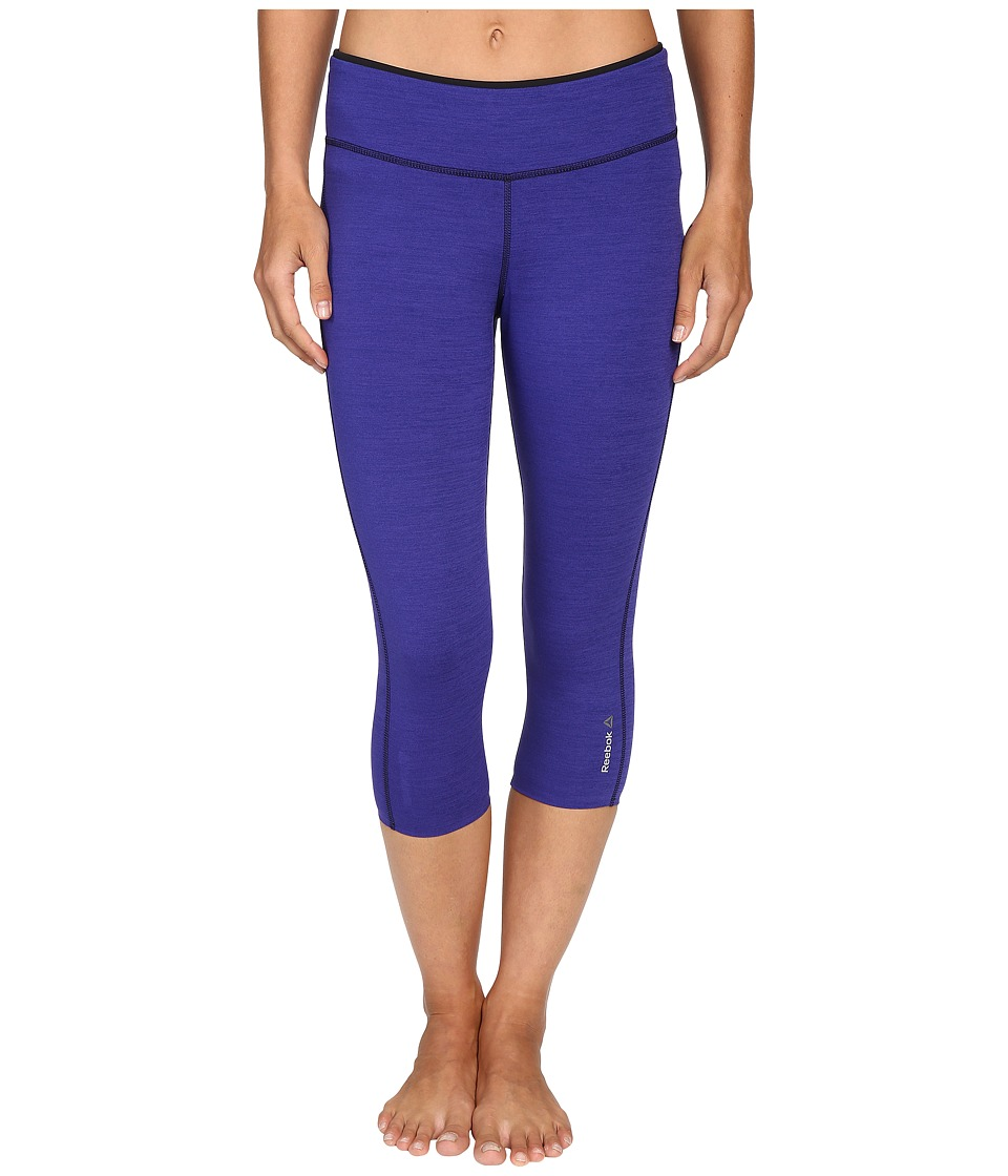 Reebok - Workout Ready Reversible Capris (Ultra Purple/Pigment Purple) Women's Capri