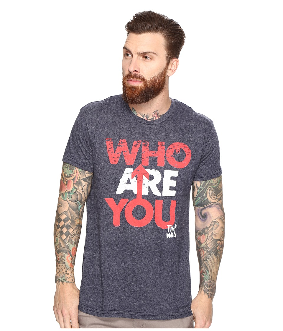 The Original Retro Brand - Who Are You Short Sleeve Tri-Blend Tee (Streaky Navy) Men's T Shirt