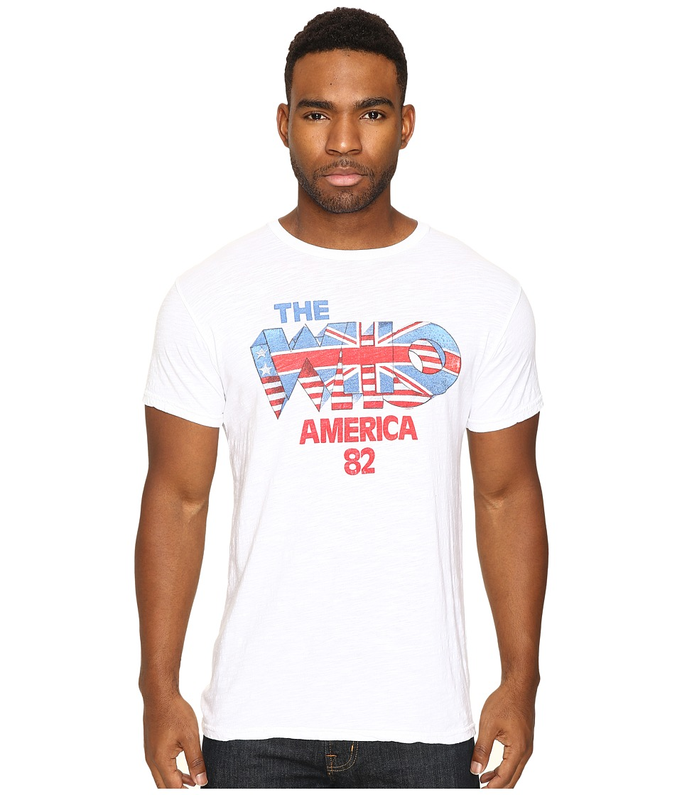 The Original Retro Brand - The Who Short Sleeve Slub Tee (White) Men's T Shirt