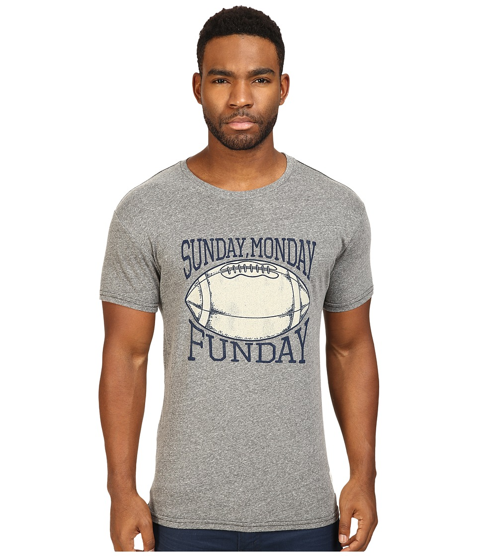 The Original Retro Brand - Sunday Monday Funday Tri-Blend Short Sleeve Tee (Streaky Grey) Men's T Shirt