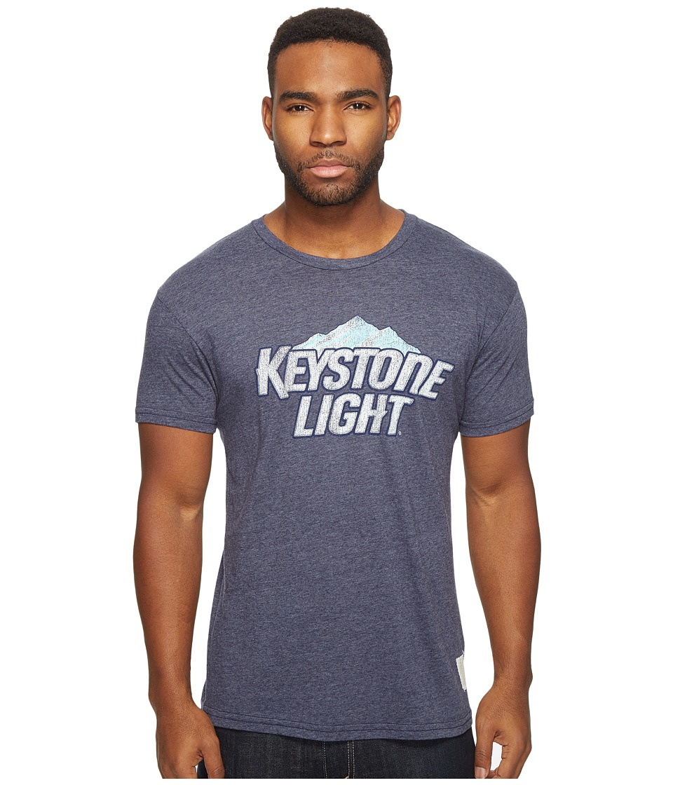 The Original Retro Brand - Keystone Light Short Sleeve Tri-Blend Tee (Streaky Navy) Men's T Shirt