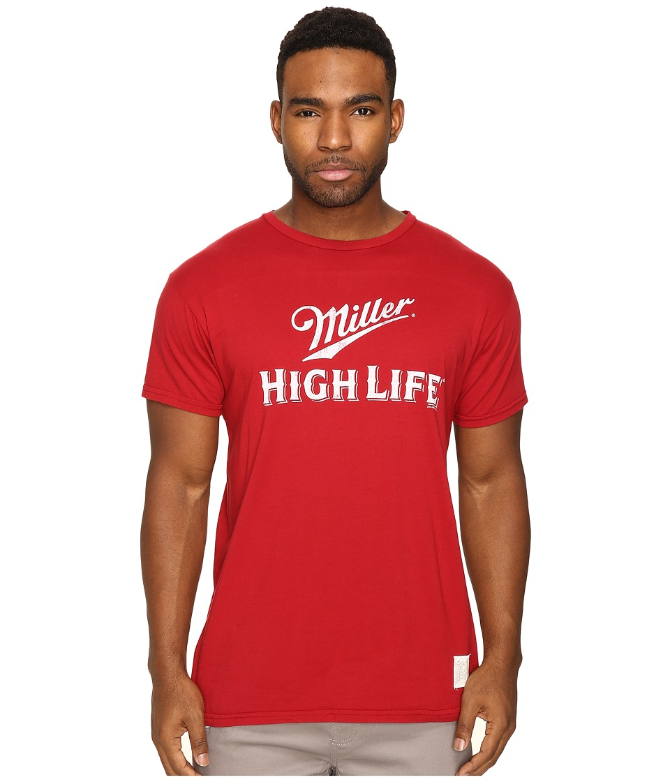 The Original Retro Brand - Miller High Life Vintage Cotton Tee (Dark Red) Men's T Shirt