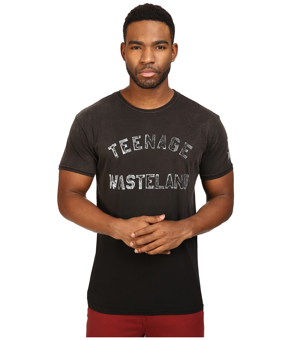 The Original Retro Brand - Teenage Wasteland Short Sleeve Potassium Wash Tee (Potassium Black) Men's T Shirt