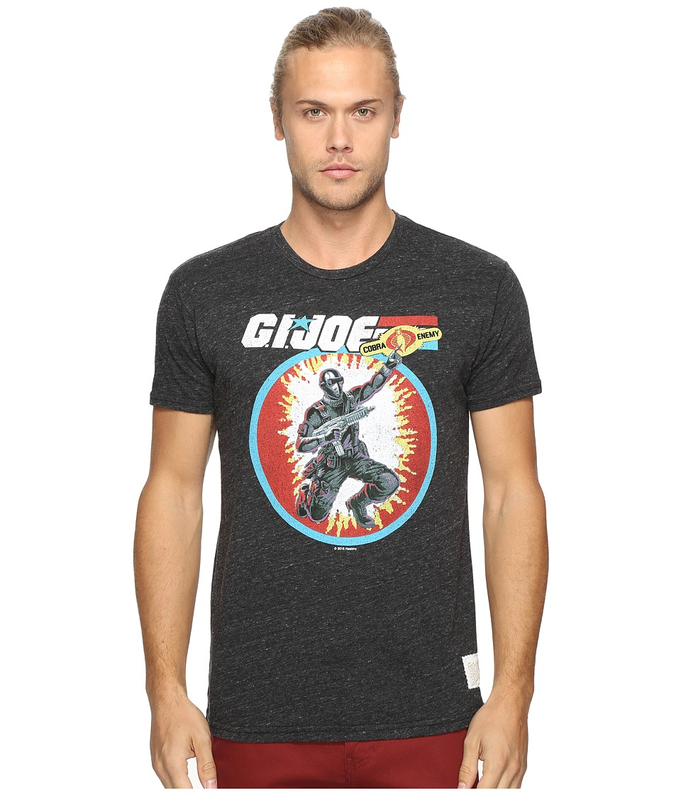The Original Retro Brand - Gi Joe Short Sleeve Tri-Blend Tee (Streaky Black) Men's T Shirt