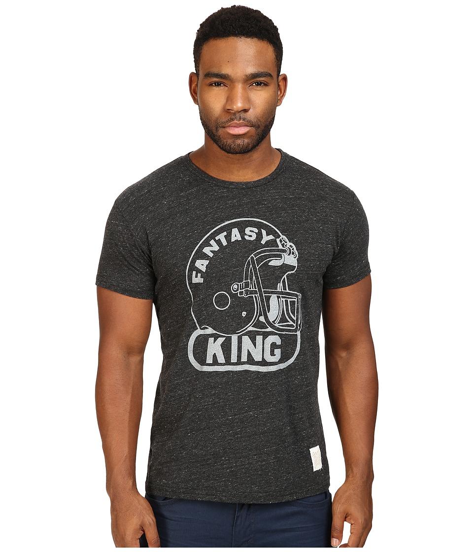 The Original Retro Brand - Fantasy King Short Sleeve Tri-Blend Tee (Streaky Black) Men's T Shirt