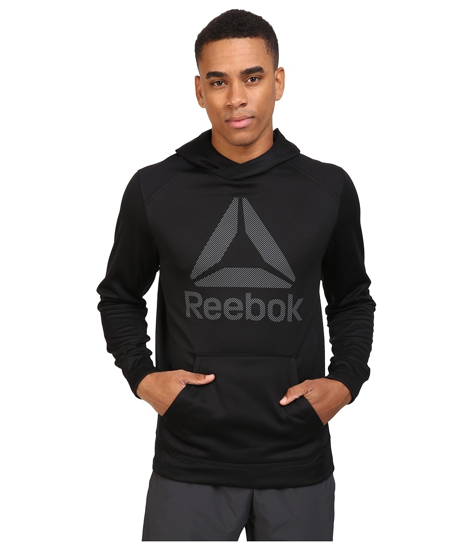 Reebok - Workout Ready Over The Head Warm Poly Fleece (Black) Men's Fleece