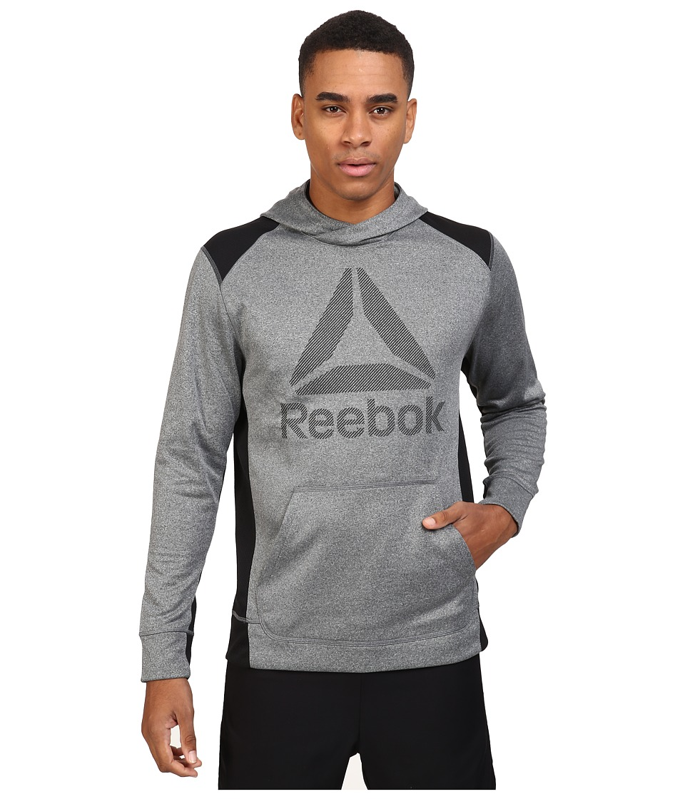 Reebok - Workout Ready Over The Head Warm Poly Fleece (Dark Grey Heather) Men's Fleece