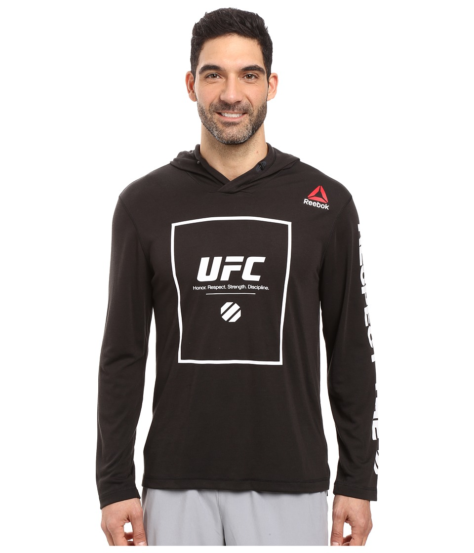 Reebok - UFC Fan Over The Head Hoodie (Black) Men's Sweatshirt