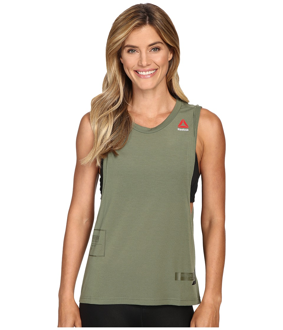 Reebok - Train Like A Fighter Tank Top (Canopy Green) Women's Sleeveless