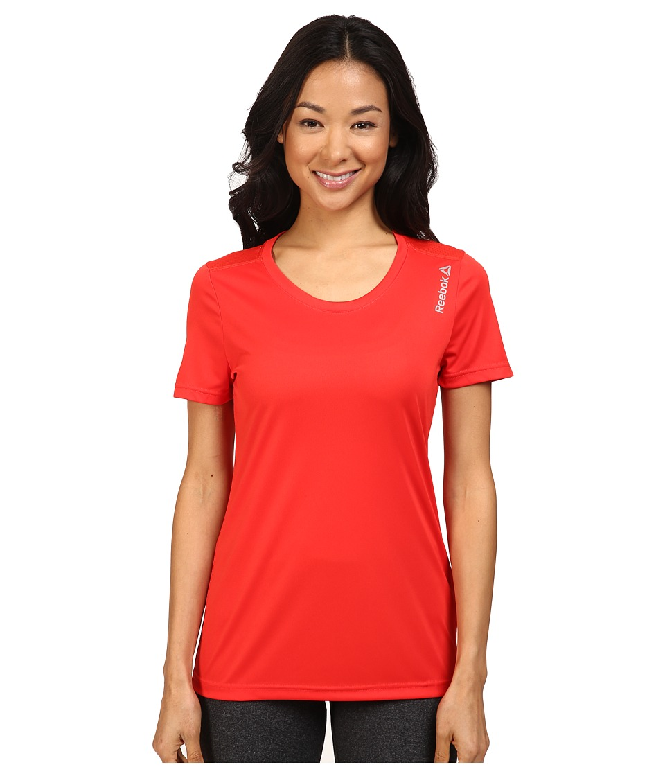 Reebok - Short Sleeve Tee (Riot Red) Women's T Shirt