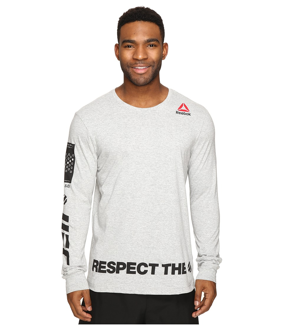 Reebok - UFC Fan Long Sleeve Tee (Mid Grey Heather) Men's T Shirt