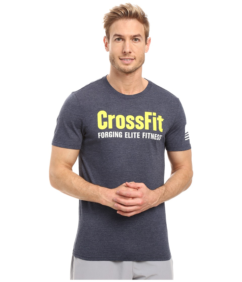 Reebok - Crossfit Forget Elite Fitness Tee (Collegiate Navy) Men's T Shirt