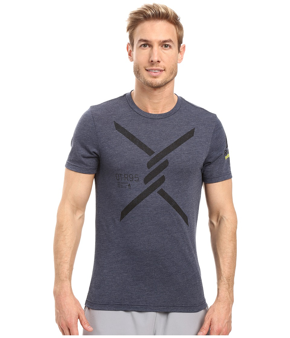 Reebok - Obstacle Terrain Racing Short Sleeve Tee 2 (Collegiate Navy) Men's T Shirt