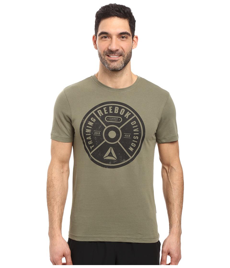 Reebok - Bumper Plate Tee (Canopy Green) Men's T Shirt