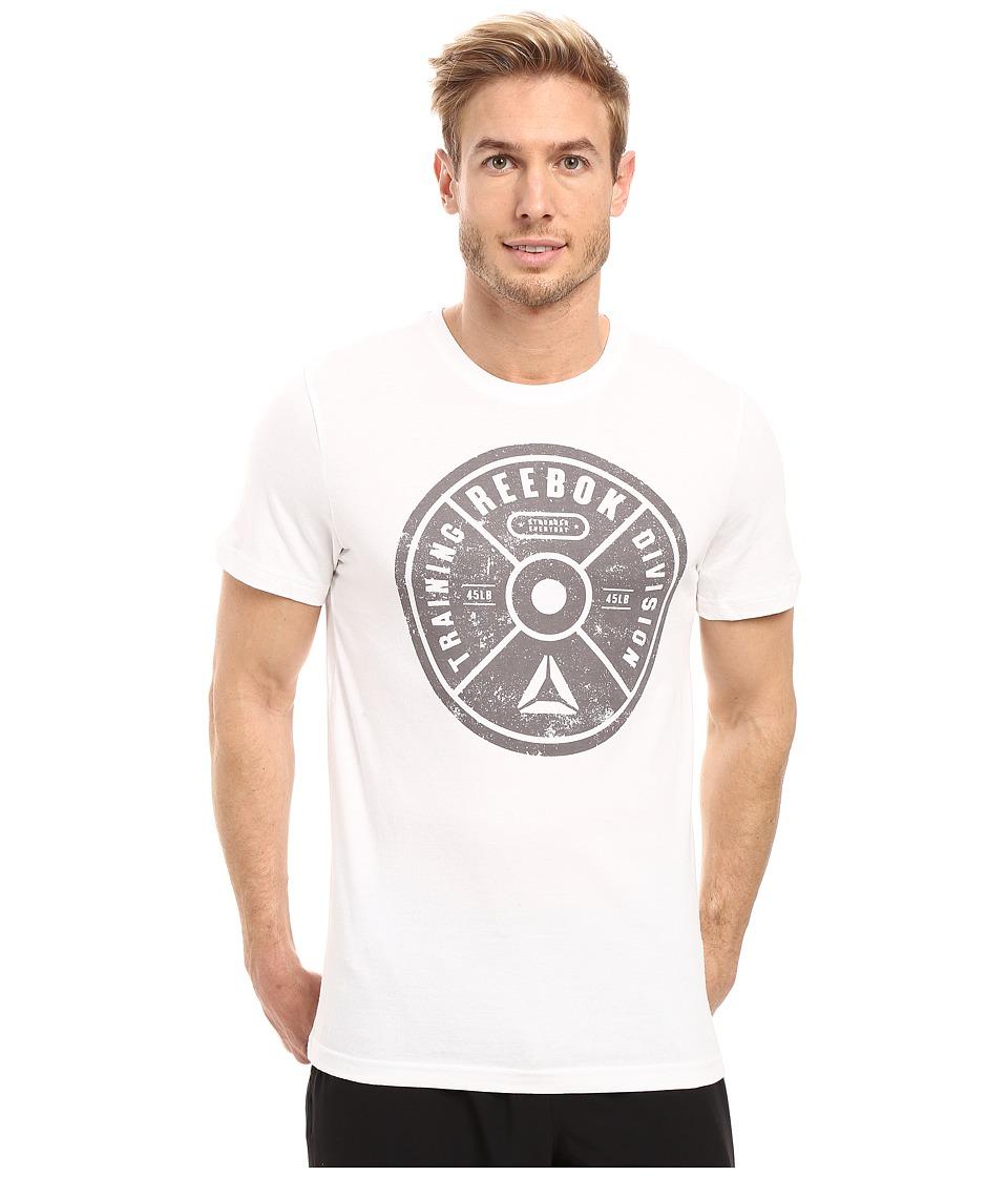 Reebok - Bumper Plate Tee (White) Men's T Shirt