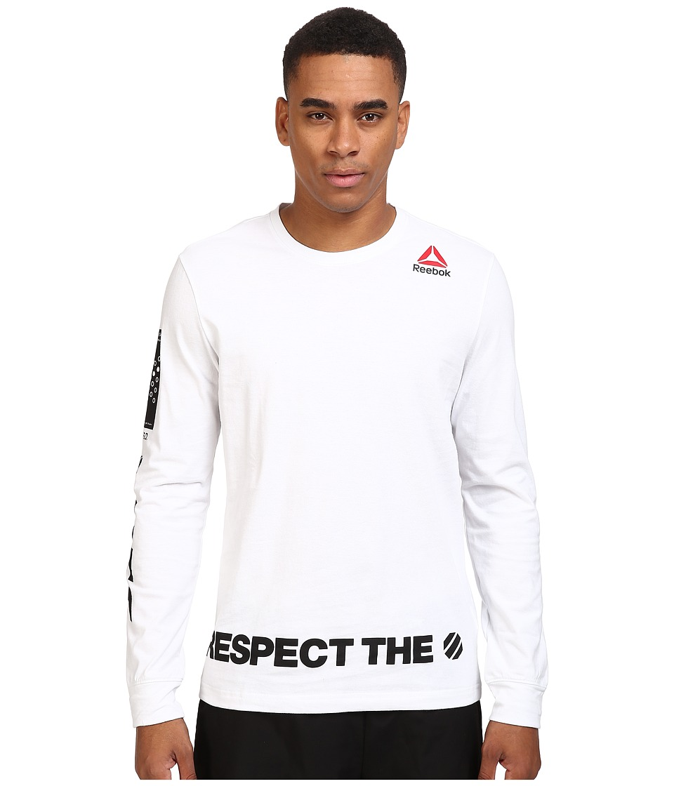 Reebok - Ufan Long Sleeve Tee (White) Men's T Shirt