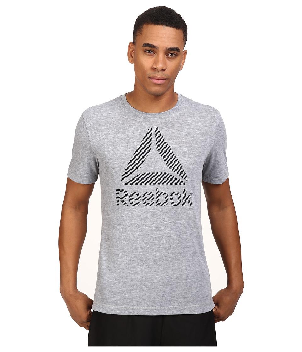 Reebok - Work BL Sup Tee (Mid Grey Heather) Men's T Shirt