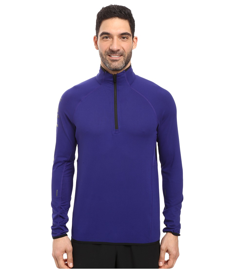Reebok - One Series Advantage 1/4 Zip (Pigment Purple) Men's Clothing