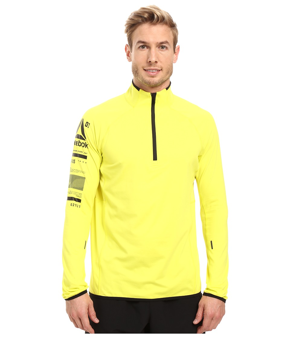 Reebok - One Series Advantage 1/4 Zip (Heritage Yellow) Men's Clothing