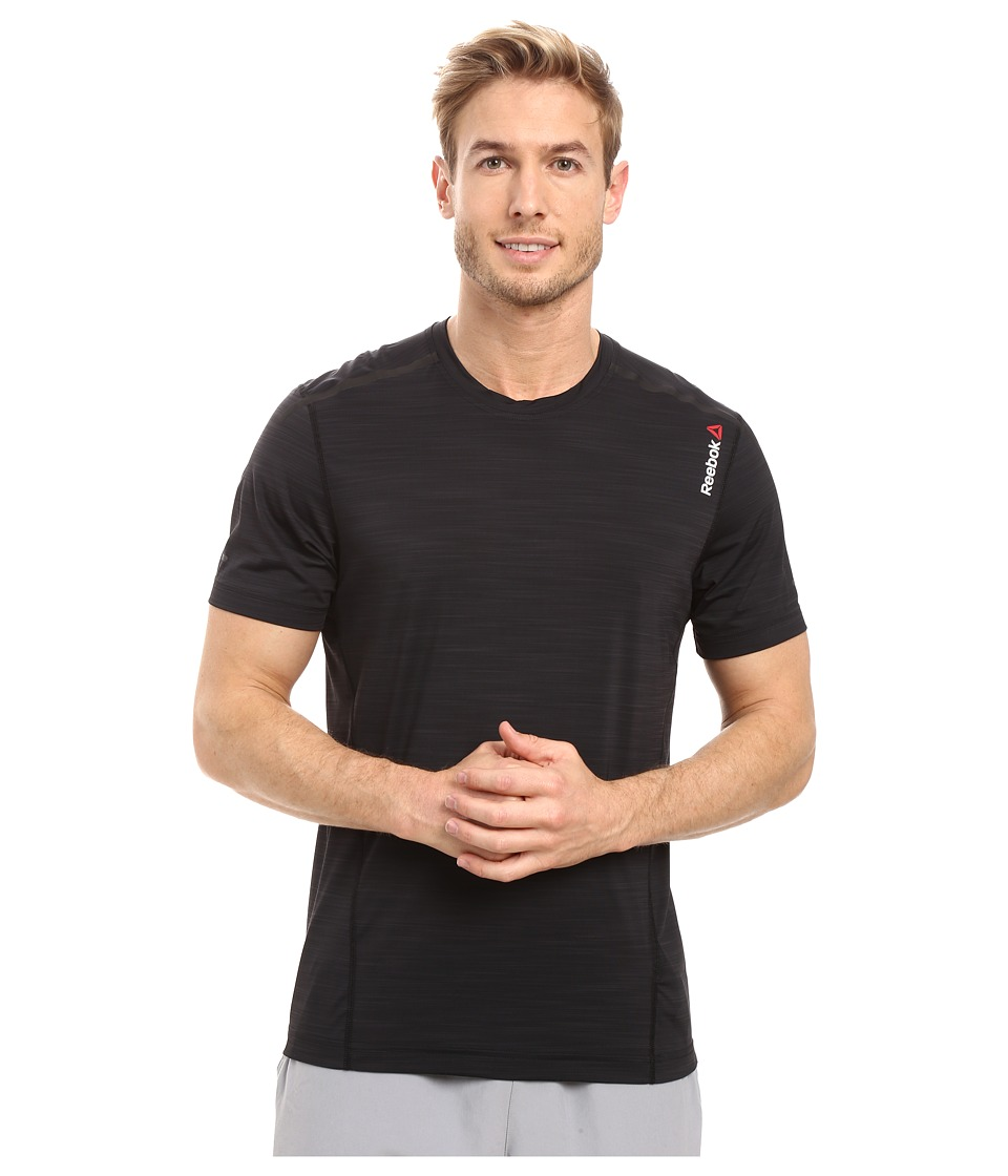 Reebok - One Series Activchill Shot Sleeve Top (Black) Men's Clothing