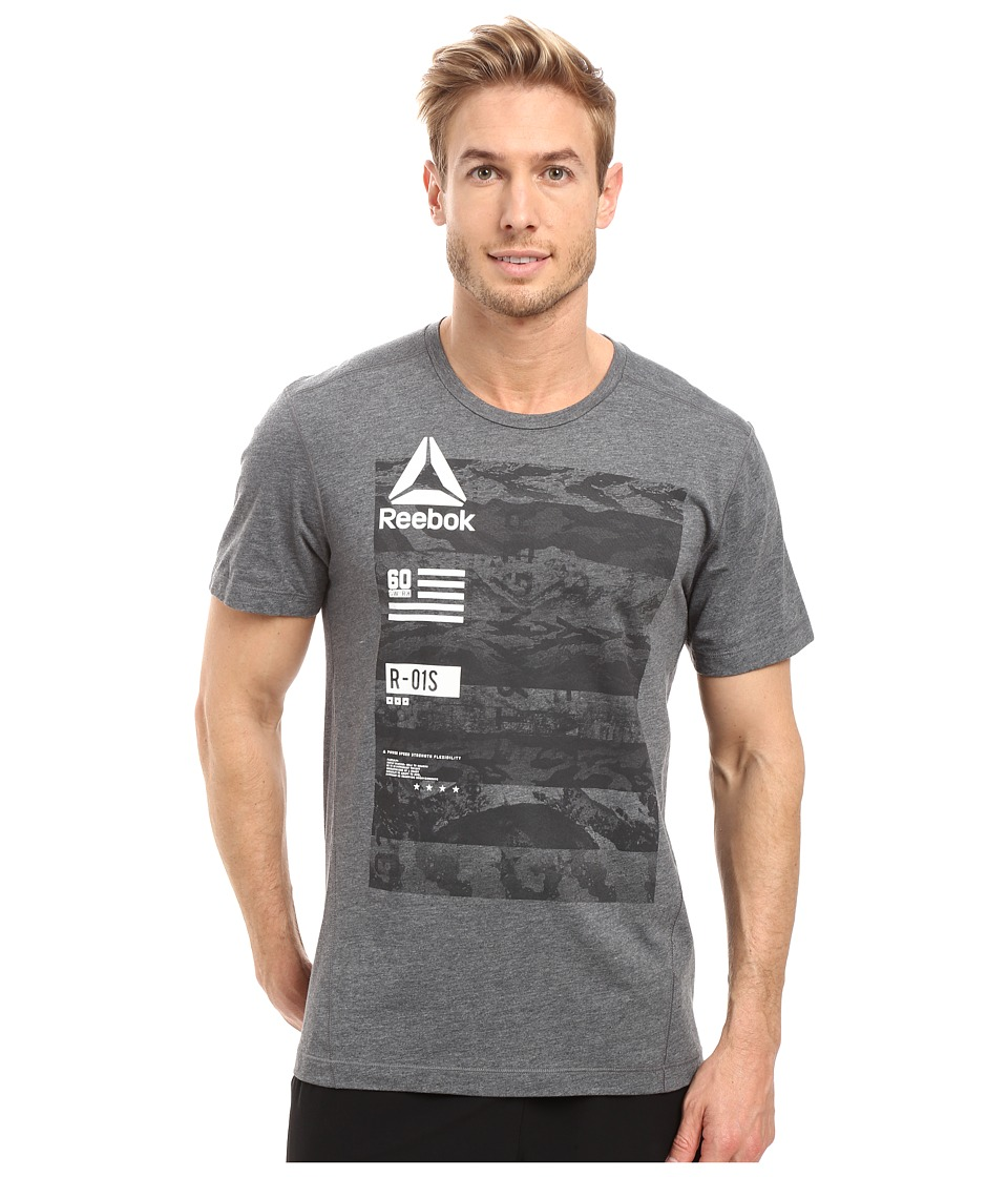 Reebok - One Series Speedwick Top 2 (Gravel) Men's Clothing