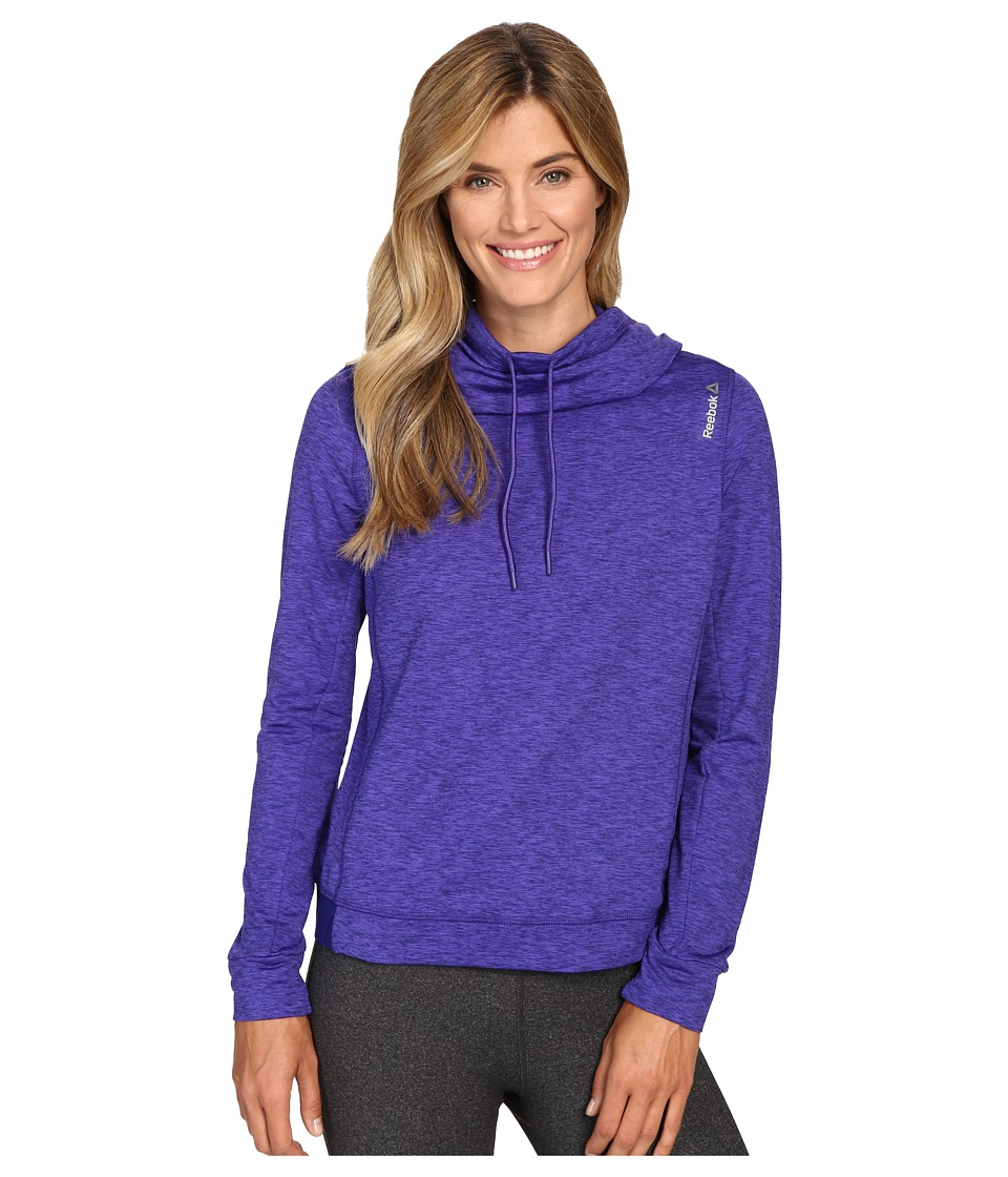 Reebok - Workout Ready Big Collar Over The Head Melange (Ultra Purple/Pigment Purple) Women's Clothing