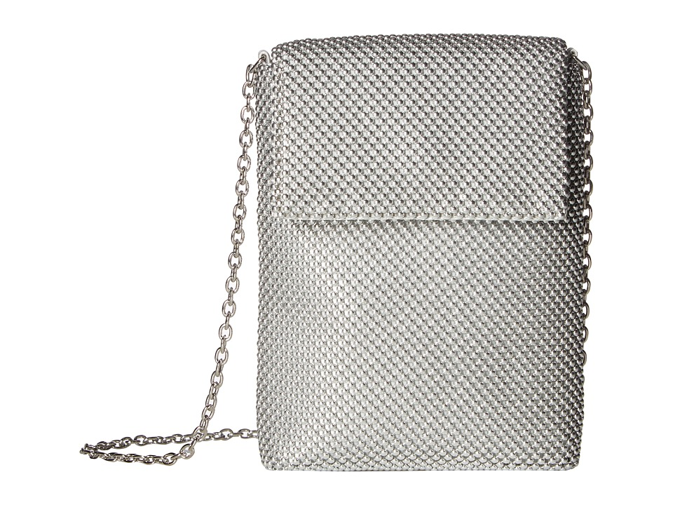 Jessica McClintock - Savannah Mesh Crossbody (Silver) Cross Body Handbags